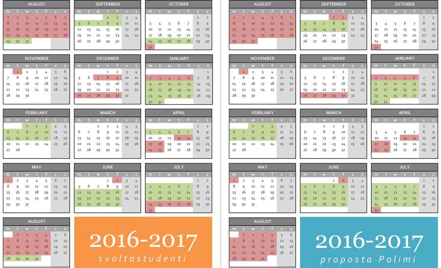 Proposta Nuovo Calendario Accademico 2017